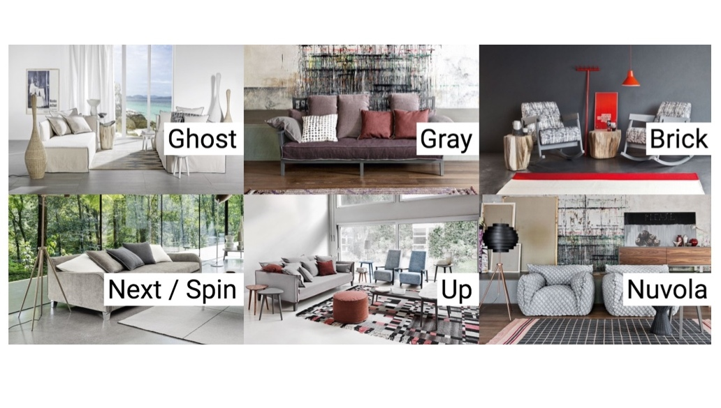 roomservice Gervasoni Ghost, Gray, Brick, Next / Spin, Up, Nuvola